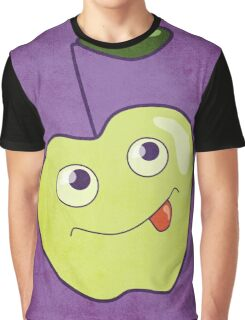 Cute Smiling Cartoon Apple Graphic T-Shirt