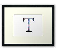 Tau Greek Letter Framed Print