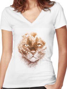 Kittee Women's Fitted V-Neck T-Shirt