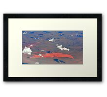 Western Australia at 10 km height Framed Print