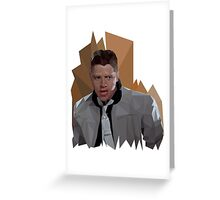 Biff Tannen Polygons Greeting Card