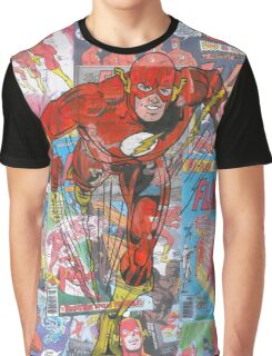 Vintage Comic Flash Graphic T-Shirt