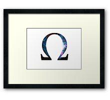 Omega Greek Letter Framed Print
