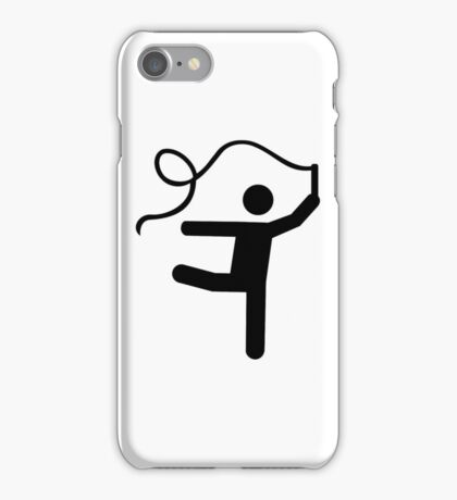 Gymnastics gymnast ribbon iPhone Case/Skin