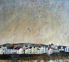 A Lone Gull, Staithes by Sue Nichol