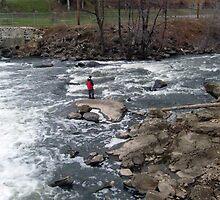 Boy Fishing On The Rockaway River by Jane Neill-Hancock