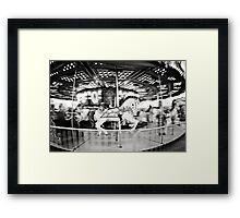 round and round. Framed Print
