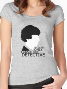 World's Only Consulting Detective V2 (for light coloured tops) Women's Fitted Scoop T-Shirt
