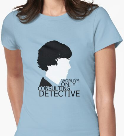 World's Only Consulting Detective V2 (for light coloured tops) Womens Fitted T-Shirt