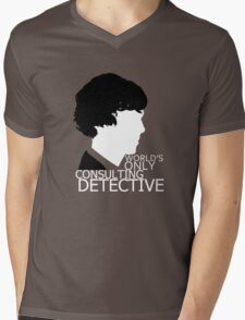 World's Only Consulting Detective V2 (for dark coloured tops) Mens V-Neck T-Shirt