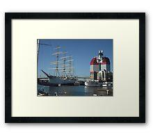 The Lipstick, Gothenburg Harbour Framed Print