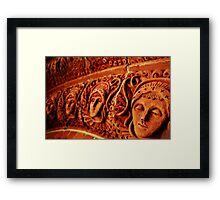 Terracotta decoration, Watts Chapel, Compton Framed Print