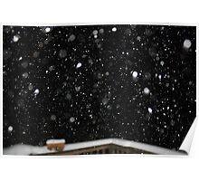 Snow at Night Poster