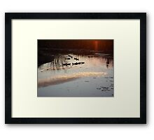 MAKE A SHARP RIGHT, HERE!  WE'RE GOING HOME. Framed Print