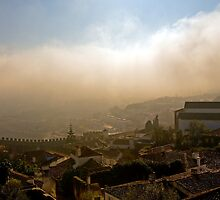 As the mist clears, Obidos, Portugal by buttonpresser
