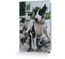 Bosun and Isis by the River Greeting Card