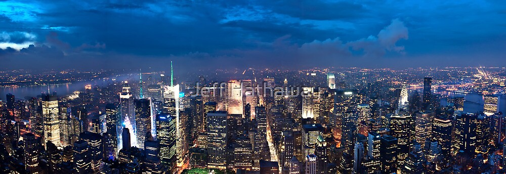 New York City Panorama by Jeff Hathaway