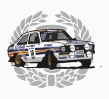 'Rothmans' Ford Escort Mark 2 BDA Cosworth T-Shirt Ver.2 by Twain Forsythe