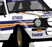 'Rothmans' Ford Escort Mark 2 BDA Cosworth T-Shirt Ver.2 Sticker