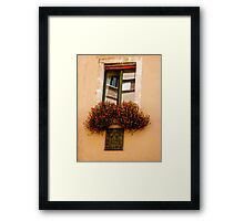Bouquet Window of Sicily Framed Print