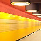 Underground Station in Berlin by Ulf Buschmann