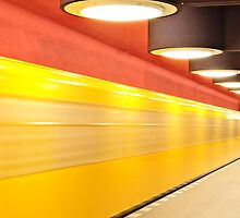 Underground Station in Berlin by Ulf Buschmann