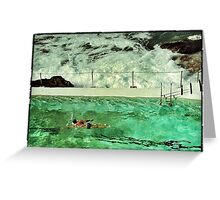 Bondi swimmer Greeting Card