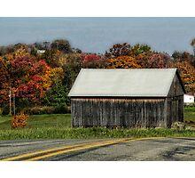 Barn along a rural road Photographic Print