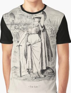 Cartoons by Sir John Tenniel selected from the pages of Punch 1901 0078 Too Late Graphic T-Shirt