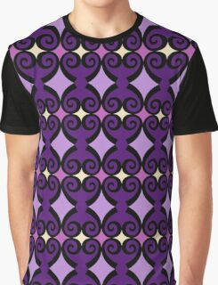 Retro curls - purple Graphic T-Shirt