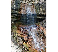 Waterfalls over Rocks Photographic Print