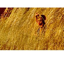 Girl In A Cornfield  Photographic Print