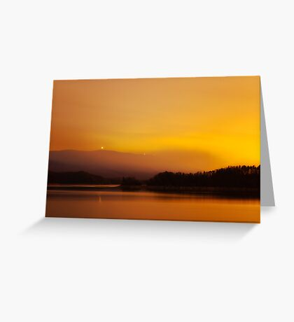 Fire Glow Greeting Card