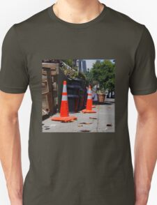 Orange On Black Unisex T-Shirt