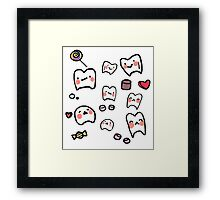 Cute tooth Framed Print