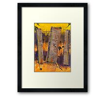 On Shaky Ground Framed Print