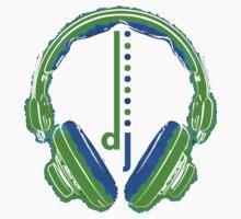 DJ Headphones T- Shirt Kids Tee