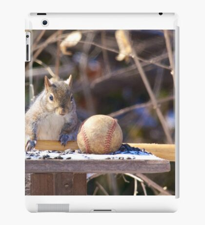 Squirrel baseball and bat iPad Case/Skin