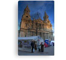 Occupy St Paul's: I Canvas Print