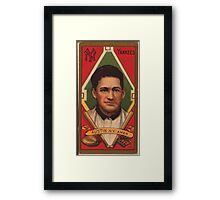 Benjamin K Edwards Collection James Austin New York Yankees baseball card portrait Framed Print