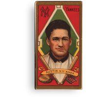 Benjamin K Edwards Collection James Austin New York Yankees baseball card portrait Canvas Print