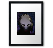 Blue Gaze - She's got Bette Davis eyes Framed Print