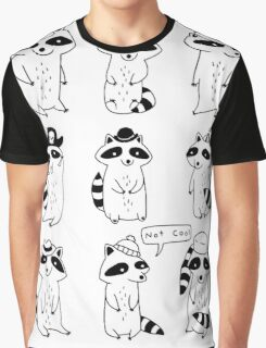 Raccoon Hat Party Graphic T-Shirt