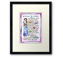 Writer Goddess Framed Print