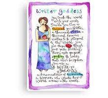 Writer Goddess Canvas Print