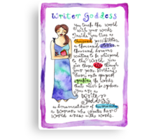 Writer Goddess Canvas Print