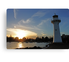 Lighthouse -Wollongong Harbour- Canvas Print