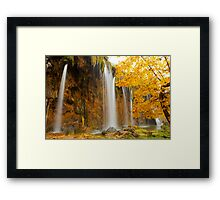 Waterfall in Plitvice Framed Print