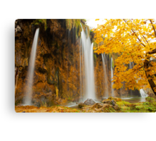 Waterfall in Plitvice Canvas Print