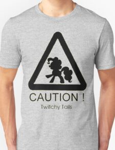 Caution twitchy tail black T-Shirt